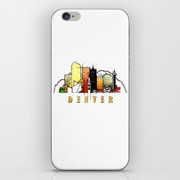 Colorful Denver Colorado Skyline iPhone Skin