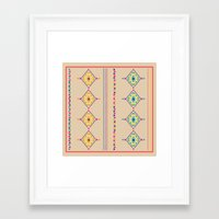 ethnic Framed Art Prints featuring Ethnic by ShivaR