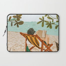 Vacay Book Club #illustration #tropical Laptop Sleeve