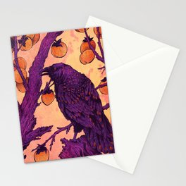 Raven and Persimmons Stationery Cards
