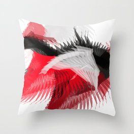 flying abstract digital painting Throw Pillow