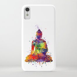 Buddha Watercolor Art Ohm Art Zen Art Meditation Gift iPhone Case