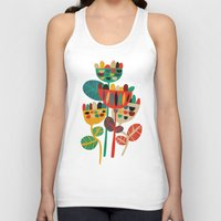 geometric Tank Tops featuring Wild Flowers by Picomodi