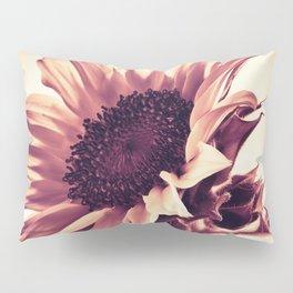 Rose Pink Sunflower Pillow Sham