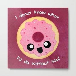 Valentine Donut Metal Print