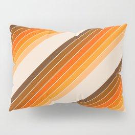 Tan Candy Stripe Pillow Sham