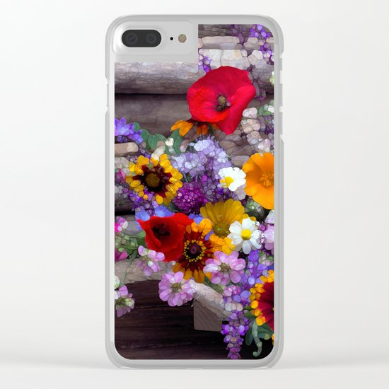 POP floral still life Clear iPhone Case