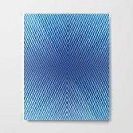 Hypnotic Geometric Maze (Royal/Pool) Metal Print