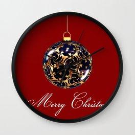 Merry Christmas Greetings Wall Clock