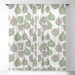 Figs pattern Sheer Curtain