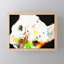Color Me Frenchie Framed Mini Art Print