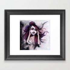 LISTEN TO MUSIC Framed Art Print