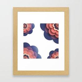 Floral // Border Framed Art Print