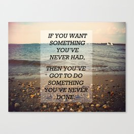Something Never Done Canvas Print