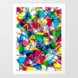 Clubmaster Shuron Glasses Party Art Print