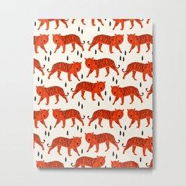 Tiger by Andrea Lauren Design Metal Print