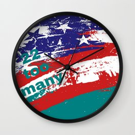22 Too Many Flag Wall Clock