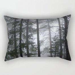 Mist Fog Ponderosa Pine Trees Rectangular Pillow