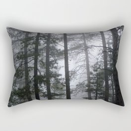 Mist Fog Ponderosa Pine Trees Rectangular Pillow