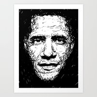 obama Art Prints featuring Obama by Smyf