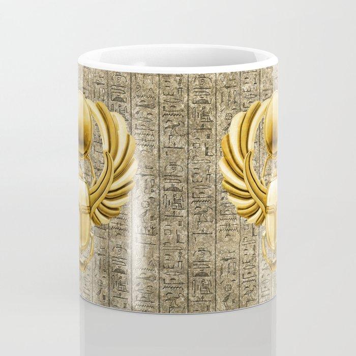 Gold Egyptian Scarab Coffee Mug
