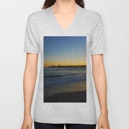 San Clemente Ca pier sunset Unisex V-Neck