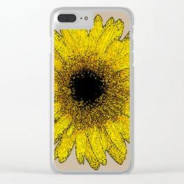 Flor amarela 2 Clear iPhone Case