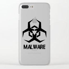 MALWARE Logo Clear iPhone Case