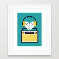 depeche mode Framed Art Prints featuring Radio Mode Love by Picomodi