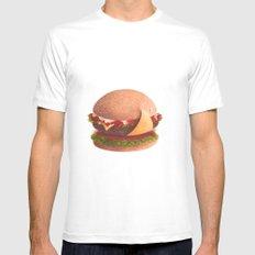 Best burger MEDIUM White Mens Fitted Tee
