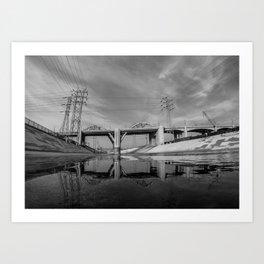 The Sixth Street Bridge, A Reflection Art Print