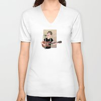 lou reed V-neck T-shirts featuring Lou Reed by Lili's Damn Fine Shop