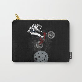 Biker Astronaut Riding Bike Outer Space Carry-All Pouch