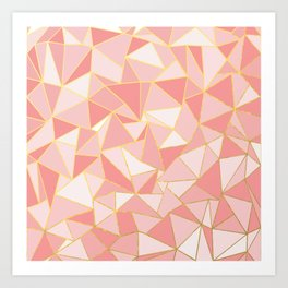 Ab Out Blush Gold Art Print