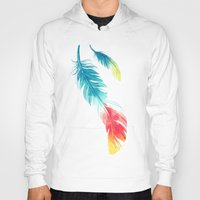 nursery Hoodies featuring Feather by Freeminds
