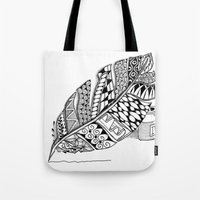 writer Tote Bags featuring Writer Love by Vermont Greetings