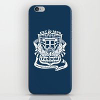 fandom iPhone & iPod Skins featuring Fandom School for the Emotionally Invested by isabloo