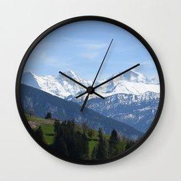 Eiger Bernese Oberland Switzerland Wall Clock