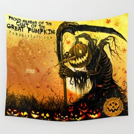 Autumn Harvester Wall Tapestry