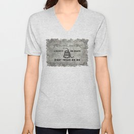Culpeper Minutemen flag, Worn distressed textues Unisex V-Neck