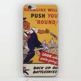Vintage poster - Workplace safety iPhone Skin