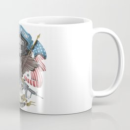 America Veterans Military Freedom Eagle With Flag And Weapons Coffee Mug