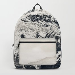 Grey Skies over Snow-Capped Mountains 01 Backpack
