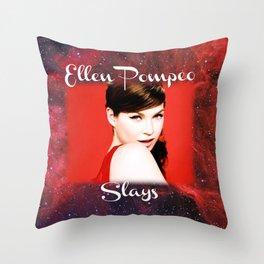 Ellen Pompeo Slays Throw Pillow