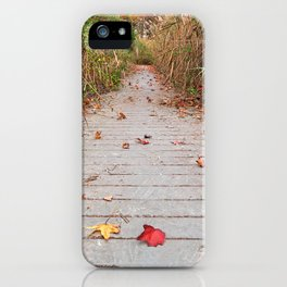 Autumn Marsh Boardwalk iPhone Case