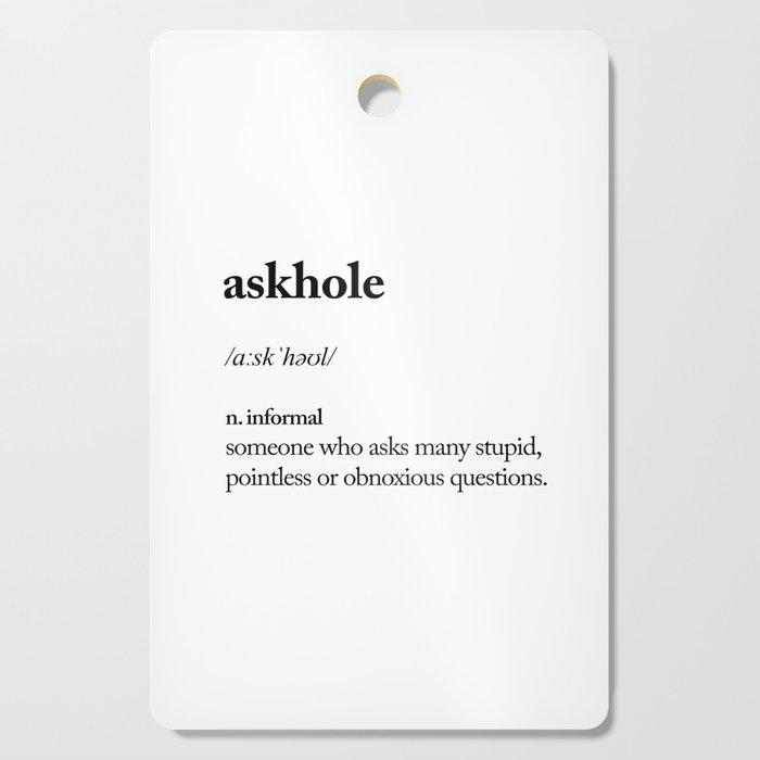 Askhole Funny Meme Dictionary