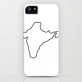 India Indian map iPhone Case