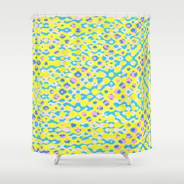 Brain Coral Pink Banded Small Polyps - Coral Reef Seris 028 Shower Curtain