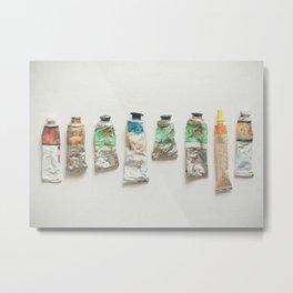 Oil Paints Metal Print