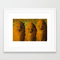 lions Framed Art Prints featuring lions by giol's